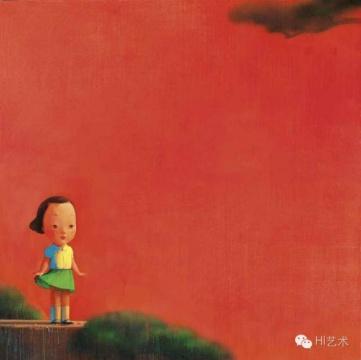刘野《红2号》 195×195cm 布面丙烯 2003 估价:500万至700万港币 香港佳士得2016春拍 成交价:484万港币