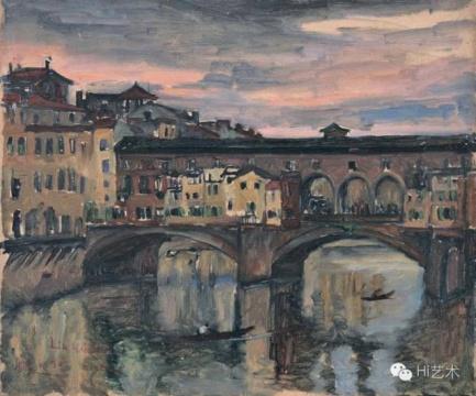 刘海粟 《翡冷翠》 46×55cm 布面油画 1930 成交价:874万元