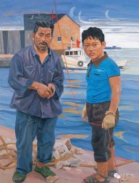 刘小东 《脆弱小绳》 140×114cm 布面油画 1990 成交价:690万元