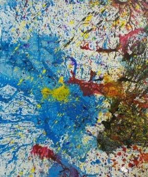 嵨本昭三 《无题》 149×123.3cm 布面亚克力、碎玻璃 2010 成交价:115万元