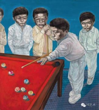 忻海洲《游戏规则之二》 198×178cm 布面油画 1992  估价:60万港币 至 100万港币