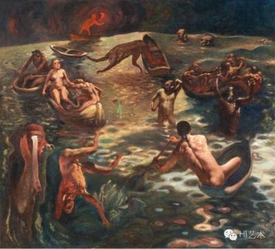 夏小万《生涯》 180×200cm 布面油画 1990  估价:220万港币 至 300万港币