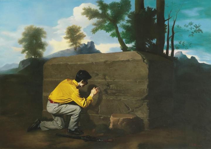 王兴伟 《桃源》169×239cm 布面油画 1996