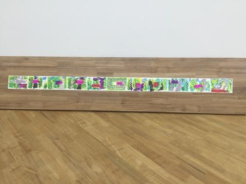胡庆泰 《弯道》 10×14.8cm×11 zhi'sha纸上AD马克笔涂画 2014