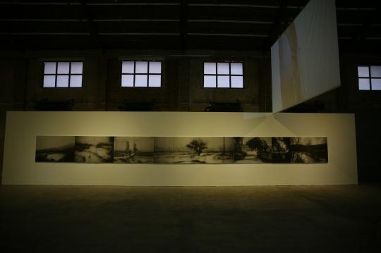 孙彦初《迷途-山远》115x86.2cmx4联 绢上喷墨打印 2012
