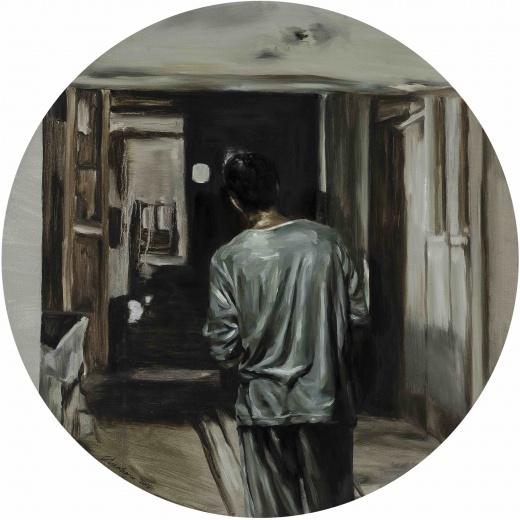 "Hadrien de Montferrand 画廊陈晗个展""茫茫暗色"",来自黑色电影的灵感,观众只能在镜头外,垫脚瞭望这个朦胧而私密的世界。"