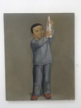 段建伟 《酒》 160×80cm 布面油画 2010
