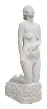 《雕塑》147×43×62cm 汉白玉 2015