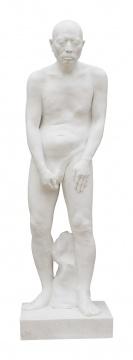 《雕塑》171×49×44cm 汉白玉 2015