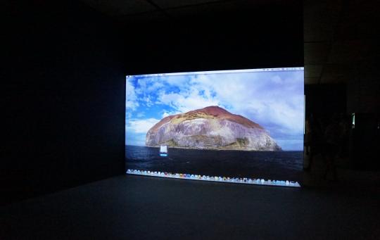 林科《鲁滨逊漂流记》 录像或录像装置 56 秒 2011 由艺术家和杨画廊提供