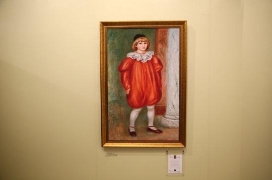 《小丑打扮的克劳德·雷诺阿》