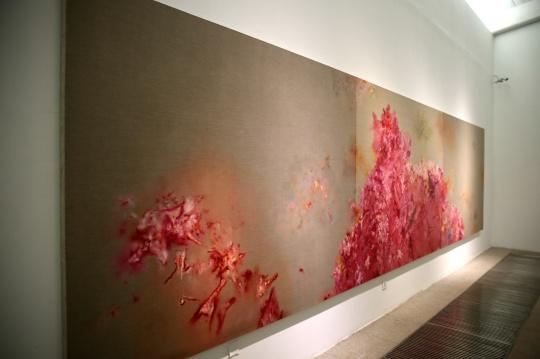 蔡锦 《风景105》200×750cm 布面油画 2013