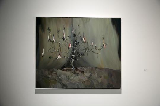 王顷 《平原一棵树》150×180cm 布面丙烯 2010