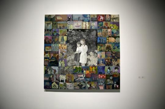 王顷《游园》200×200cm 布面油画 2015-2016
