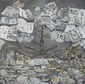 王顷 《电扇》 200×200cm布面油画 2016