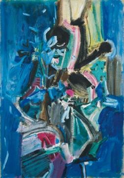 吴大羽 《无题14》 75.8×53cm 布面油画 1980 成交价:1808万港币 创艺术家拍卖最高纪录 香港苏富比2016春拍