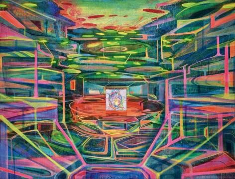 黄宇兴 《环形剧场》 176×230cm 布面丙烯 2013 成交价:94.3万元 北京保利2016春拍