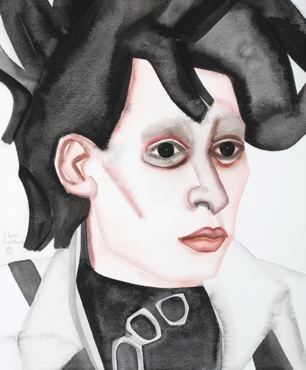 《Edward Scissorhands》 55.5×46cm 纸上水粉 2015