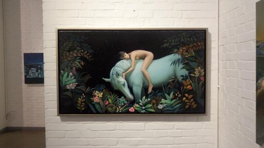 《以梦为马》 68×120cm 布面油画 2016