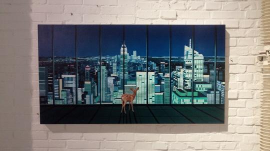 《世界》 130×70cm 布面油画 2016