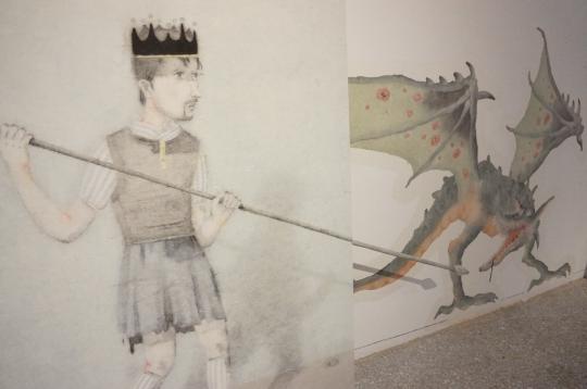 """平面绘画同现成品的结合,也可算作是一次绘画的""""出墙""""。"""