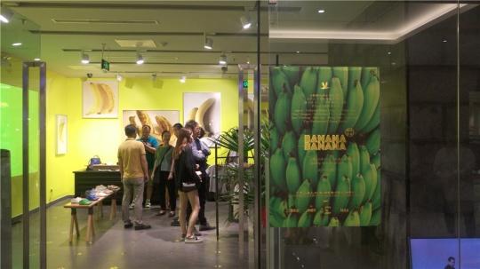 """""""香蕉香蕉""""展览现场入口"""
