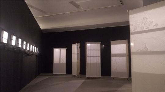 孙博的现成品、光影绘画装置作品 100×200cm 2013