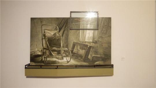 闫珩 《红蛇》 200×190cm 绘画装置 2014