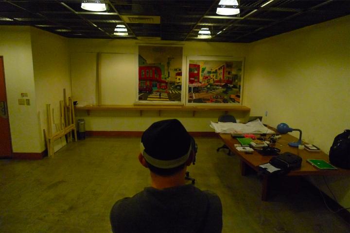 王玉平曾经在台北呆了一个月,这里是他的工作室,后来才知道附近原来是日本殖民时期的刑场