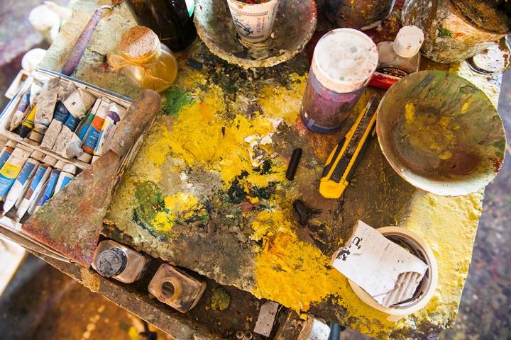 艺术家的颜料盘,艺术家们都有着相同又不尽相同的颜料盘