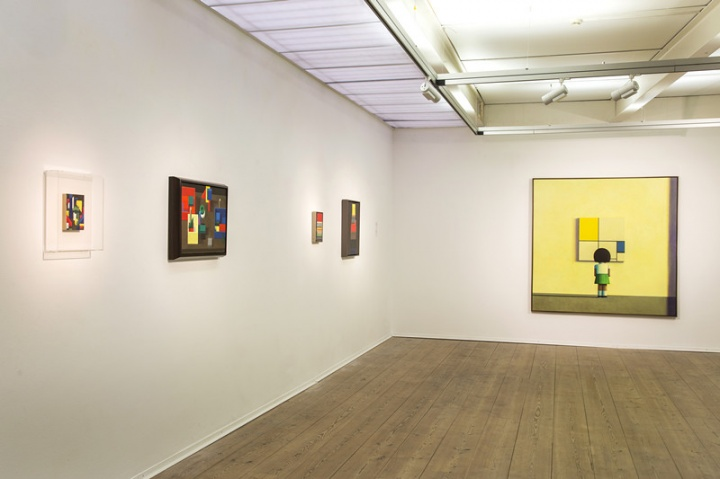 """展览""""蒙德里安和刘野""""展出刘野从90年代至今的经典作品20余幅"""