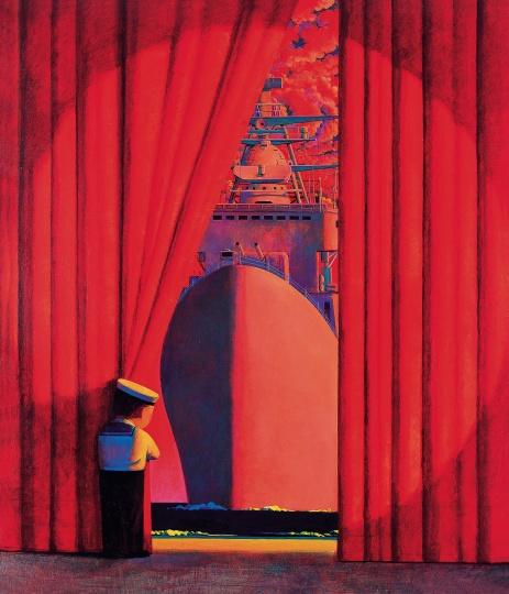 《旗舰3号》120x140cm 布面丙烯油彩 1997