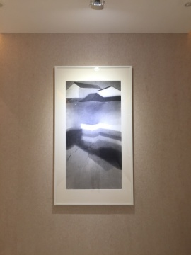 沈勤 《园.16》 纸本水墨 143×75cm 2016