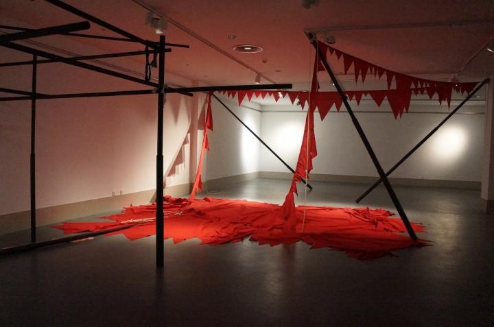 印度艺术家 茜拉·高达 《如果你看到了欲望它将落下》 装置 2015