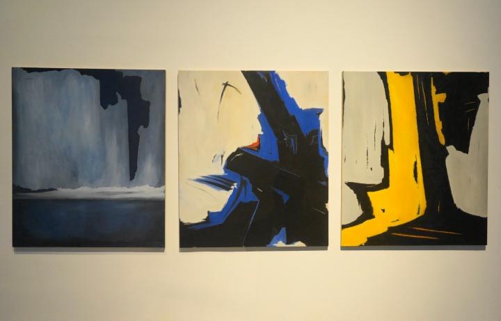 意大利艺术家 弗朗哥·维奥拉《风景系列》作品 布面油画 130×110cm