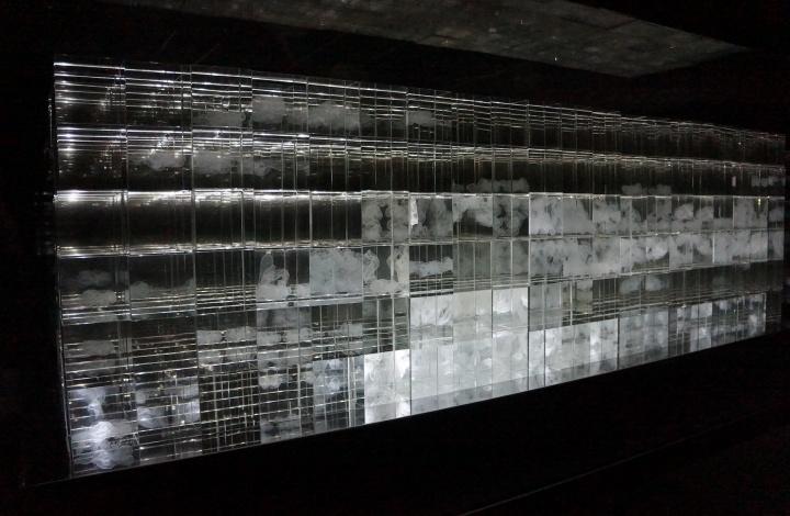 余旭鸿《山水云间》 装置 200×80cm 2016