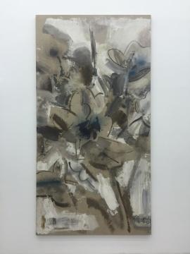 王劼音 《大花卉之一》 276x145cm布面丙烯 2005