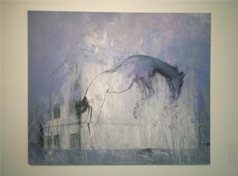 黄立言 《沉默的镜像》 175×215cm 布面油画 2012