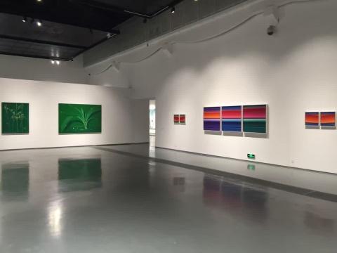 展览呈现的艺术家创作非常丰富