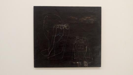 李迪 《瞭望星空夜》 90×100cm 布面油画 1996
