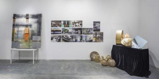 展览现场刘韡的工作室