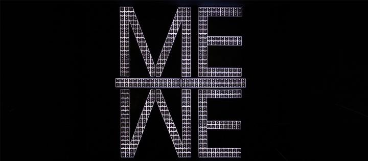 李明作品《MEIWE》在上海K11展览现场