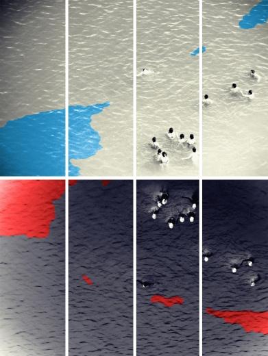 狮語画廊 Alec Von Bargen 《永恒的下龙湾,弗吉尼亚-装置》 400×320cm 数字印刷于5mm Forex 2016 价格:120,000(Edition of 1)
