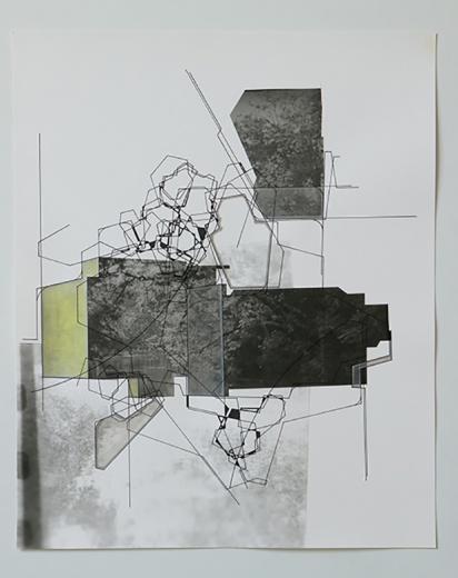 Vanguard画廊 阿琦·路迷 《建筑性格No.1》 50×41cm 丙烯、银盐 2016 参展作品价格为2万-16万不等