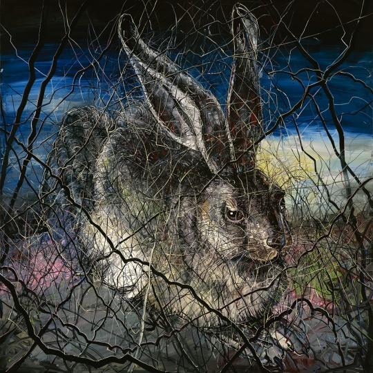 《兔子》400 x 400 cm 布面油画2012 ©曾梵志工作室