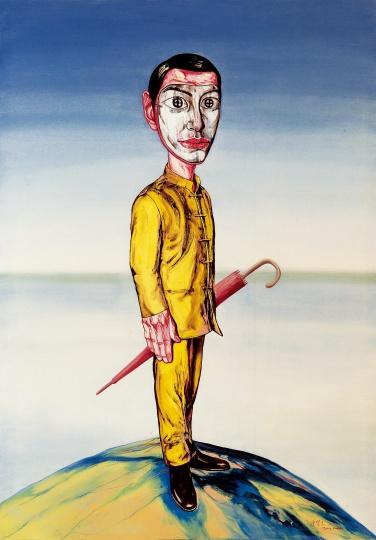 《江湖》 248×175cm 布面油画 2001 成交价:3011万港币(2384.7万人民币) 佳士得香港2013年春季拍卖