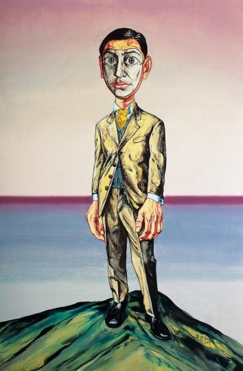 《面具系列》220×145cm 布面油画 2000 成交价:2277万人民币 北京保利2013年秋季拍卖会