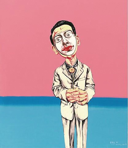 《面具系列 No. 3》 150×129.9cm 布面油画 1997 成交价:2026万港币(1696万人民币) 佳士得香港2011年春季拍卖会