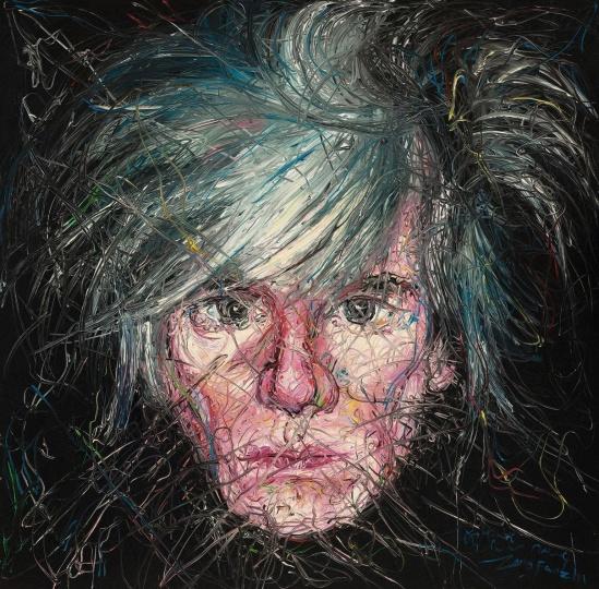《安迪·沃荷肖像》 200×200cm 布面油画 2004 成交价:1947万港币(1540万人民币) 保利香港2014年秋季拍卖会