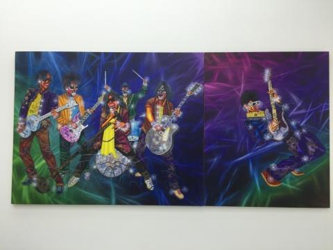 """罗丹展出的是一批""""摇滚系列""""的作品"""
